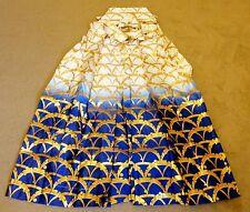 RARE! Japanese Ceremonial Wedding apparat or/IVORY/Blue umanori (trousers) 33 cm