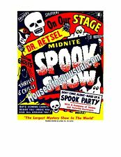 Vintage Rare Spook Show Poster 1950's Monsters and Magic Shows