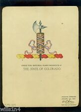 Original artwork of the Colorado National Guard Crest 1924 watercolor on board
