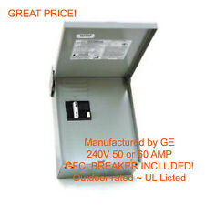 60 AMP GFCI GFI Spa Hot Tub Disconnect with outdoor box 60A Subpanel - NEW
