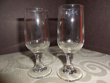 VINTAGE  LONG STEM  SHOT GLASSES SHAPE OF CHAMPAGNE 4 INCHES TALL SET OF 2 EUC