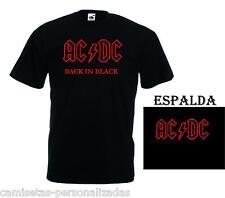 CAMISETA ACDC AC/DC BACK IS BLACK T-SHIRT ROCK HEAVY METAL