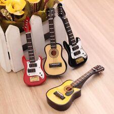 Mini Miniatur Gitarre Guitar Kinder Geschenk Instrument Teil Dekoration DE