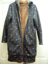 PRE-OWNED FRANCHE LIPPEE DOUBLE SIDE FUR LONG JACKET WITH HOOD FROM JAPAN