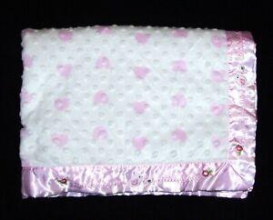 Carters Just One You Birds Thank Heaven for Little Girls Heart Minky Dot Blanket