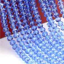 diy 100 (±3) PCS , 4 X 6 mm Light Blue Colors Crystal Faceted Abacus Loose Beads