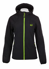 Ultrasport Damen Softshell Jacke Softshelljacke Kapuze schwarz grün L Large