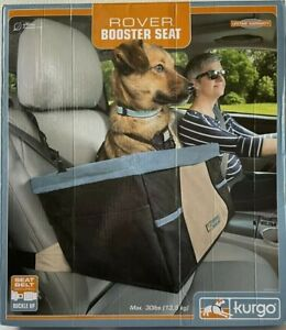 Kurgo For Rover Booster Dog Car Seat w Seat Belt Tether - Blue Black - Max 30 lb
