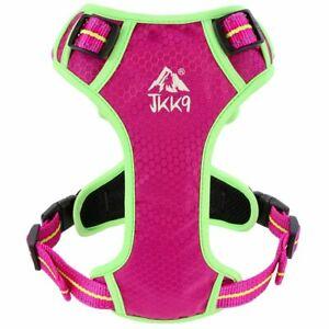 JKK9® Dog Harness L & XL Padded Adjustable & Reflective Harnesses & Top Handle