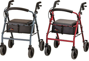 Nova Zoom 24 Foldable Rolling Mobility Walker Rollator - 2 COLOR CHOICE NEW