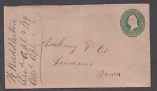 **US 19th Century Post Sta Cover, LaDora, IA 4/1/1879, Purp Dbl Circ W/Star F/C