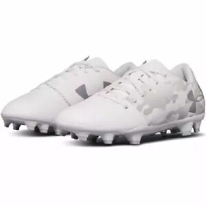 Under Armor Spotlight Youth Soccer Cleat (white)