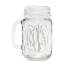 Wedding Party Glass Gift Etched Engraved Personalized Mason Jars Mug