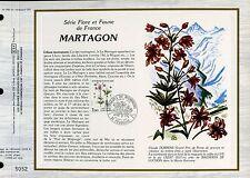 DOCUMENT CEF PREMIER JOUR 1983  TIMBRE N° 2267 MARTAGON FLORE