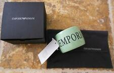 Emporio Armani Italy NWT Light green bracelet Large Monogram bangle cuff NEW BOX