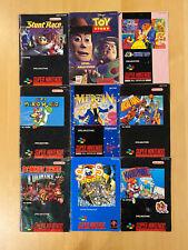 9 Snes Anleitungen Sammlung Lot Anleitung Super Nintendo Manuals Handbuch PAL