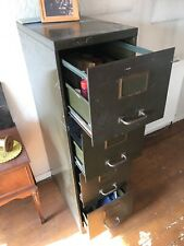 Vintage metal filing cabinet Must be seen Great looking cabinet 4 drawers