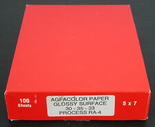 Agfa Agfacolor 5x7 Paper Glossy Surface 30-35-33 Process Ra-4 -100 Sheets Sealed