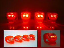Bicycle Light Front And Rear Silicone LED Bike Lights – Red
