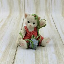 Calico Kittens by Priscilla Hillman Christmas Cat 'Wrapped up in You' Figurine