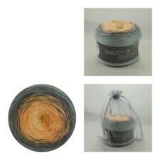 Lana Grossa Shades of Cotton 200g Wolle,  113 Ecru/Lachs/Dunkelgrau/Blaugrau