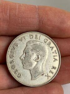 1948 Canada 50c Silver Half Dollar KM #45  Key Date ***NO RESERVE***