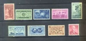 US 1955 Commemoratives Year Set with 9 Stamps MNH