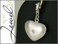 Charms Anhänger echt Silber 925 Sterling rhodiniert Herz mit Zirkonia Einhänger