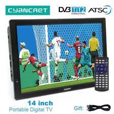14 inch HD Portable TV DVB-T2 ATSC Digital Analog Television Mini Small Car TV