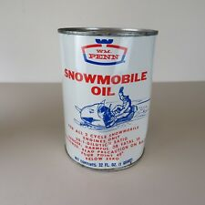 Vintage WM. Penn Quart Snowmobile Oil - 32oz - For 2 Cycle Snowmobile Engine