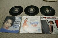 Lot Of 3 Connie Francis Picture Sleeve 45 Records  Hollywood Looking Love Break