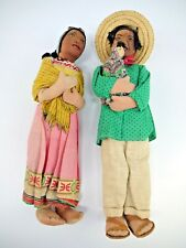 New ListingAntiqueMexican Folk Art Dolls Hand Made Well Crafted Family Babies Old Linen