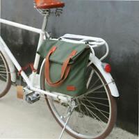 Tourbon Bicycle Cycling Rear Single Pannier Waterproof Canvas Shopper Bike Bag