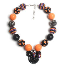 Acrylic Chunky Beads Bubblegum Gumball Jewlery Pendant Halloween Necklace 156