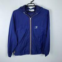 Helly Hansen Jacket Blue Zip Front Vented Wind Breaker Size L Nylon Mens