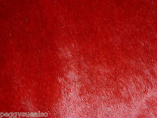 """Hair On Leather 8""""x10"""" Blood RED / Dark Red Marbled HOH Cowhide PeggySueAlso"""