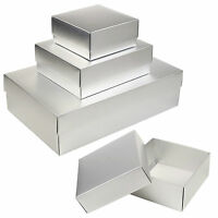 Card Matte Silver Gift Boxes Occasion Presentation Greeting Box DVD Wedding Set