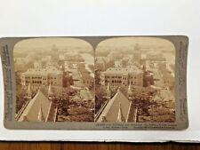 Stereoscope 1 3442 Over University Tower S. from Rajabai Tower, Bombay, India