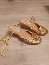 Atmosphere Ladies Shoes Gold Size 4