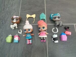 LOL doll bundle-2 dolls with clothes/shoes+2 x pets+lots of accessories