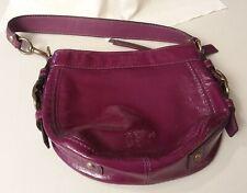 b3751d66af33 COACH 41869 Zoe Mini Handbag Purse Patent Leather Purple Shoulder Bag  Pre-owned