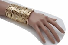 New Women Jewelry Gold Long Cuff Bracelet Metal Strings Silver Bling Urban Sexy