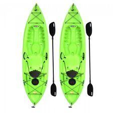 Lifetime 2 pack Tioga 120 In. (10 ft) Kayaks w/ Paddles - Lime Green (90643)