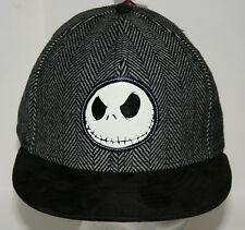 Jack Skeleton Nightmare Before Christmas Tweed Faux Suead Hat Cap New OSFM
