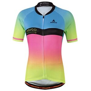 Colourful women's cycling jersey, Size 8/10