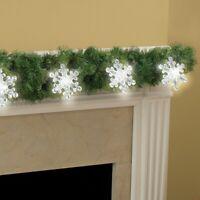 Set of 6 Cordless LED Large Snowflake Christmas String Lights