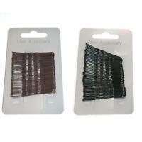 36 x Standard 4.5cm Kirby Grips Hair Bobby Pins Clips Black or Brown