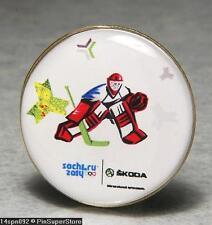 OLYMPIC PINS BADGE 2014 SOCHI RUSSIA SKODA AUTOMOBILES SPONSOR HOCKEY CZECH NOC