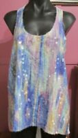Valley girl Sleeveless top with sequins size 10