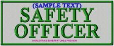 REFLECTIVE CUSTOM/MADE TO ORDER NAME PATCHES 200X80mm - SILVER BACKGROUND